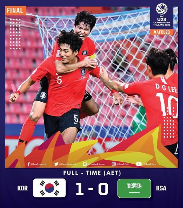 U23 Hàn Quốc 1-0 U23 Saudi Arabia: Trung vệ cao 1m94 ghi bàn thắng quý như vàng, người Hàn chính thức trở thành vua châu Á - Ảnh 1.