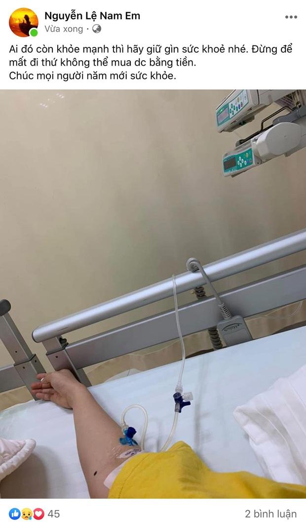 Mới mùng 2 Tết, Nam Em đã phải nhập viện sau chuỗi ngày ồn ào bị bạn gái Quốc Bảo tố là người thứ ba - Ảnh 1.