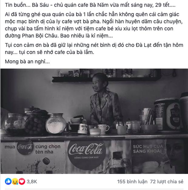 Tết này, người Đà Lạt chính thức mất đi góc cà phê vợt thân quen với tuổi đời hơn nửa thế kỷ ở quán bà Năm! - Ảnh 19.