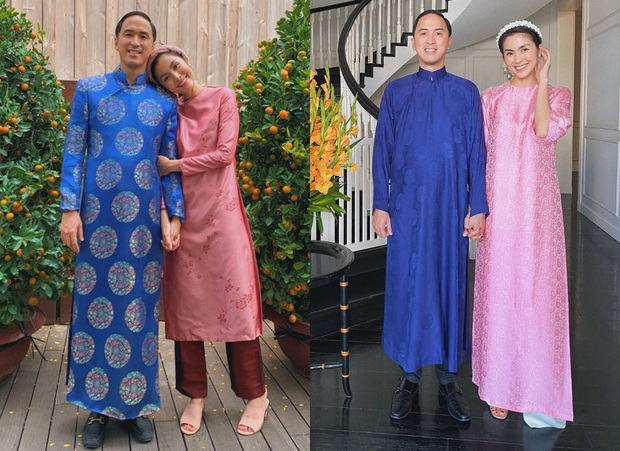 Style áo dài Tết của sao Việt năm ngoái – năm nay: Người thay đổi in ít, người diện màu y chang năm cũ - Ảnh 2.
