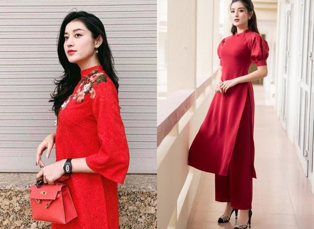 Style áo dài Tết của sao Việt năm ngoái – năm nay: Người thay đổi in ít, người diện màu y chang năm cũ - Ảnh 4.