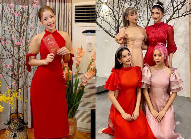 Style áo dài Tết của sao Việt năm ngoái – năm nay: Người thay đổi in ít, người diện màu y chang năm cũ - Ảnh 1.