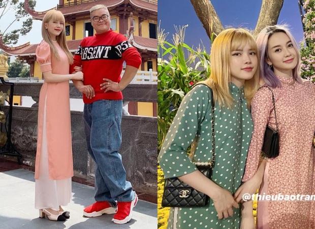 Style áo dài Tết của sao Việt năm ngoái – năm nay: Người thay đổi in ít, người diện màu y chang năm cũ - Ảnh 5.