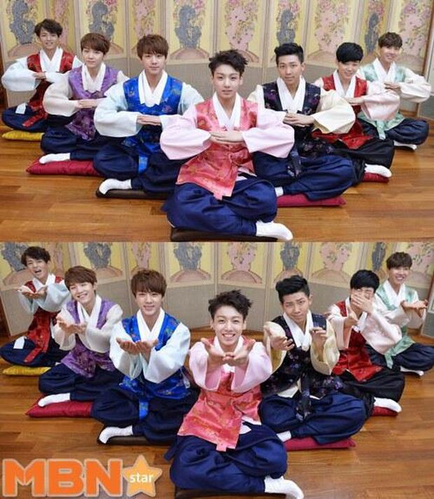BTS lột xác khi diện hanbok trên show thực tế nhân dịp đầu năm mới - Ảnh 2.