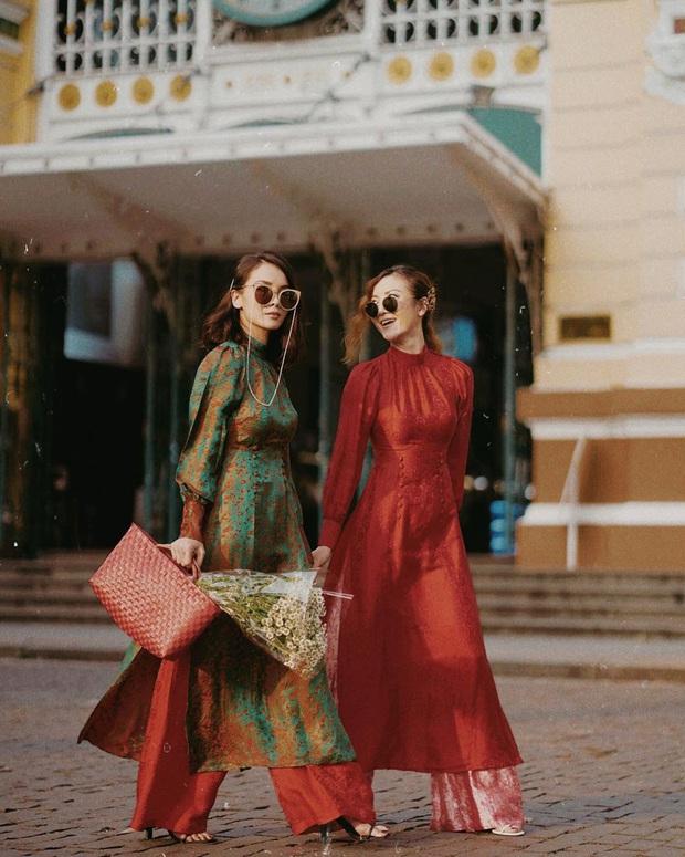 Học Hà Tăng, Yến Trang, Yến Nhi chọn giày dép kết hợp cực nuột với áo dài, đã vậy còn tôn dáng hết cỡ - Ảnh 6.