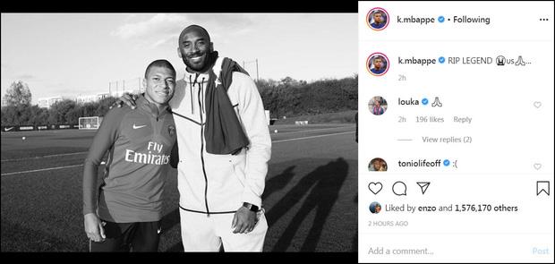 Ronaldo, Messi và các sao bóng đá tiếc thương trước sự ra đi đột ngột của huyền thoại Kobe Bryant sau tai nạn rơi máy bay - Ảnh 5.