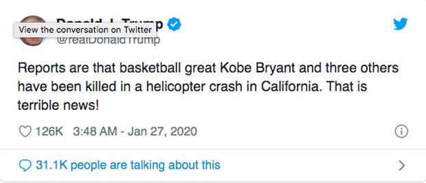 Justin Bieber, Tổng thổng và dàn sao thế giới bàng hoàng trước tin Kobe Bryant qua đời vì tai nạn trực thăng chấn động nước Mỹ - Ảnh 11.