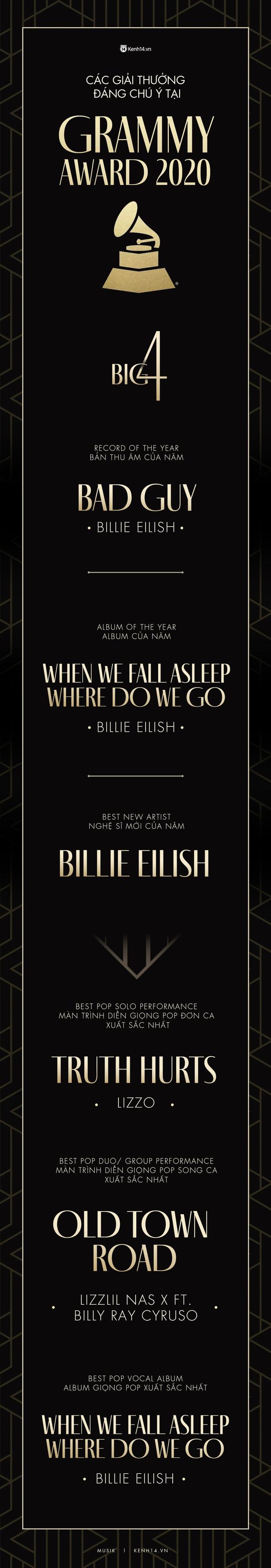 Kết quả Grammy 2020: Billie Eilish viết nên lịch sử, Taylor Swift, Ariana Grande và Lana Del Rey đồng loạt trắng tay đầy cay đắng! - Ảnh 6.