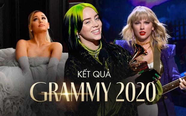 Kết quả Grammy 2020: Billie Eilish viết nên lịch sử, Taylor Swift, Ariana Grande và Lana Del Rey đồng loạt 'trắng tay' đầy cay đắng!