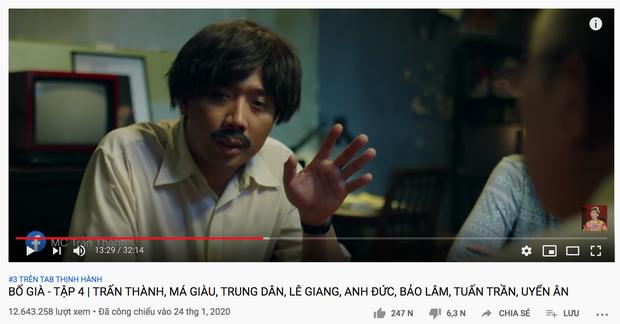 Mới mùng 3 Tết, Trấn Thành gây choáng với loạt video nối đuôi nhau trên top trending YouTube! - Ảnh 2.