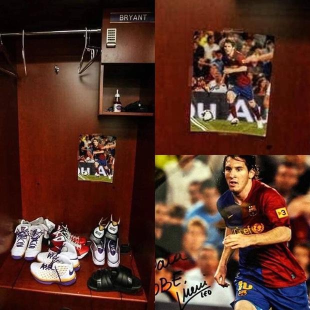 Phát hiện bức ảnh duy nhất trong tủ đồ của Kobe Bryant: Huyền thoại bóng rổ cũng có thần tượng bóng đá của riêng mình - Ảnh 1.