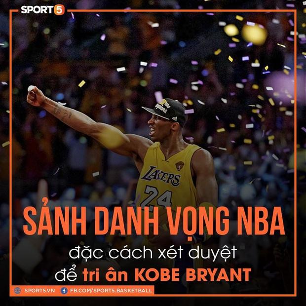 Sau tai nạn thương tâm, Kobe Bryant được đặc cách bước trực tiếp vào Sảnh Danh vọng - Ảnh 1.