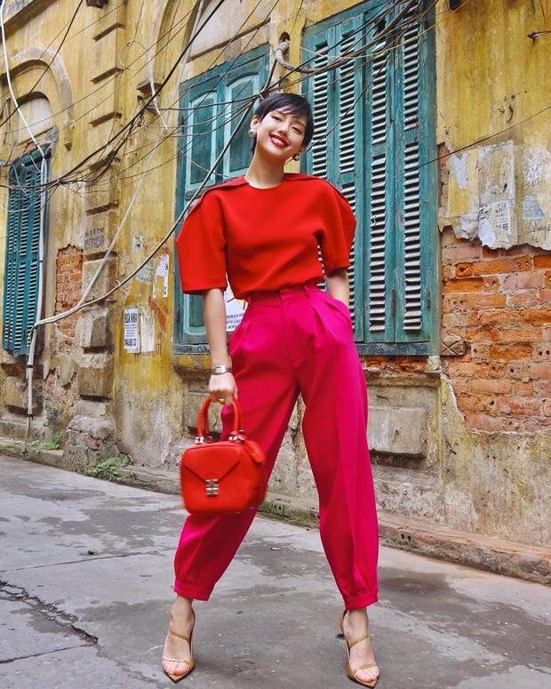 """Sao Việt """"đọ style"""" diện đồ Tết: Ai cũng kín đáo, có Yến Trang, Quỳnh Anh Shyn """"đánh bạo"""" diện váy ngắn - Ảnh 9."""