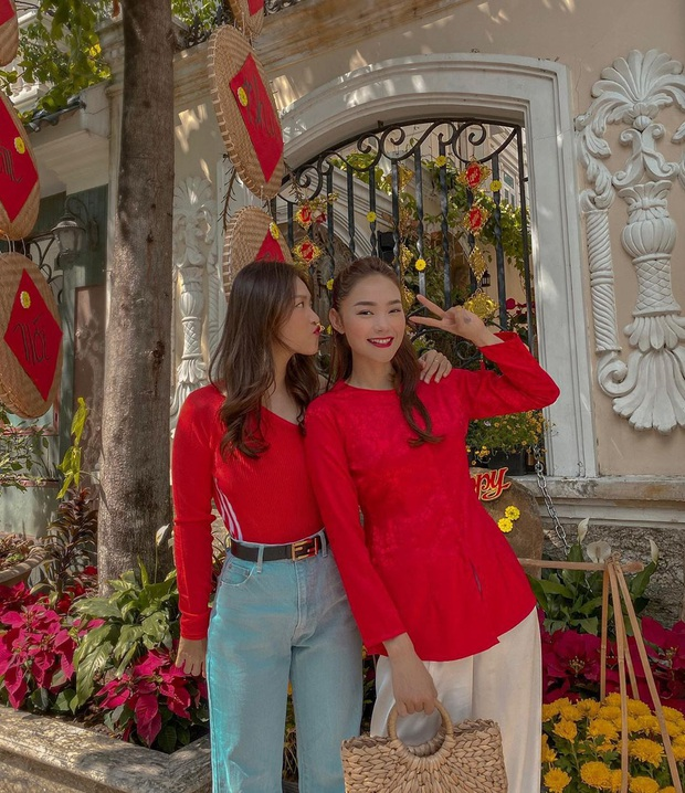 """Sao Việt """"đọ style"""" diện đồ Tết: Ai cũng kín đáo, có Yến Trang, Quỳnh Anh Shyn """"đánh bạo"""" diện váy ngắn - Ảnh 4."""