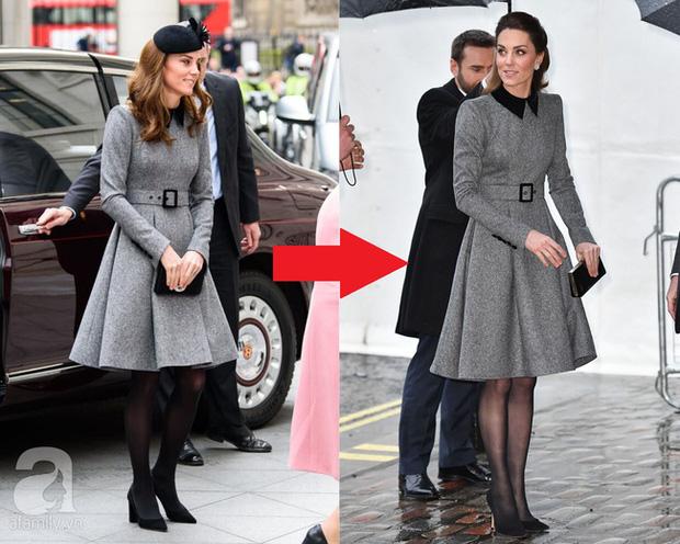 Vẫn chiếc váy ấy nhưng Kate Middleton chỉ thay đổi vài chi tiết, vẻ ngoài đã vươn lên tầm cao mới: Trẻ trung và siêu cấp thời thượng - Ảnh 7.