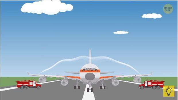 Những sự thật gây kinh ngạc về vòi rồng đón máy bay và một số kiêng kị chỉ người làm phi công mới biết! - Ảnh 4.