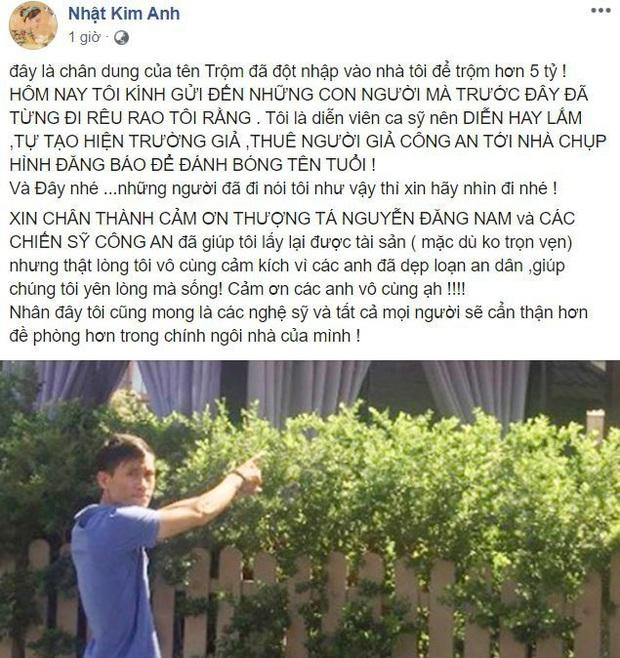 Nhật Kim Anh chia sẻ thông tin bất ngờ về tên trộm đột nhập nhà mình lấy đi 5 tỷ đồng - Ảnh 1.