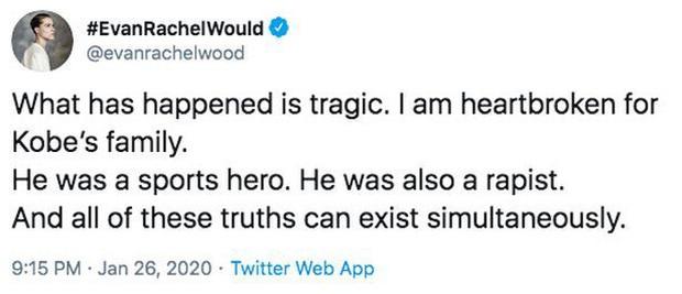 Sao nữ Frozen 2 bị chỉ trích nặng nề khi gọi huyền thoại Kobe Bryant là kẻ hiếp dâm vài tiếng sau thảm kịch trực thăng - Ảnh 2.