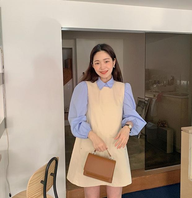 Combo váy áo được gái xinh xứ Hàn diện nhiệt tình nhất đợt này: Hack tuổi siêu ổn và thừa điểm thanh lịch để diện đến công sở  - Ảnh 4.
