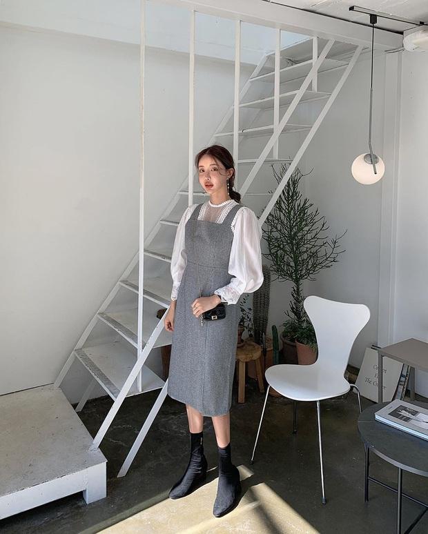 Combo váy áo được gái xinh xứ Hàn diện nhiệt tình nhất đợt này: Hack tuổi siêu ổn và thừa điểm thanh lịch để diện đến công sở  - Ảnh 6.