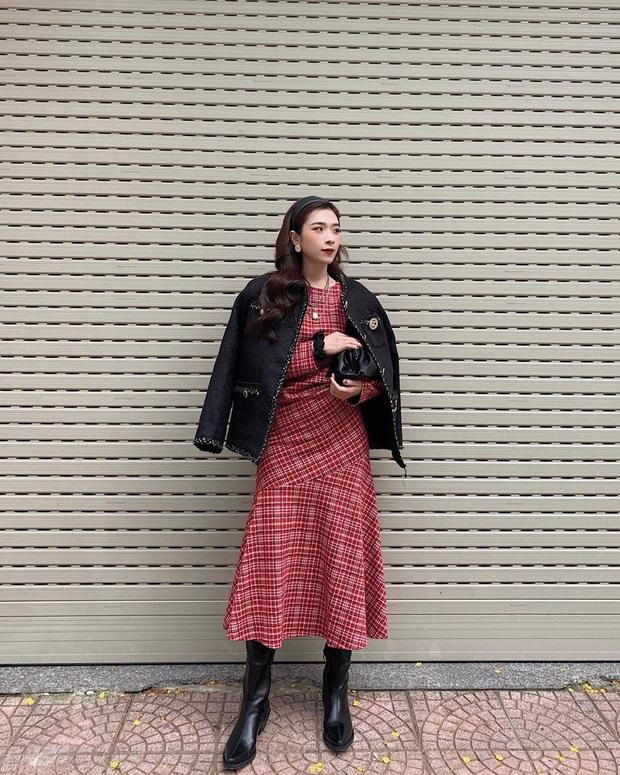 Street style Tết của hội hot girl sành mặc Instagram: Dù diện áo dài hay váy áo kiểu cách cũng đều sang chảnh, xinh tươi hết nút - Ảnh 3.