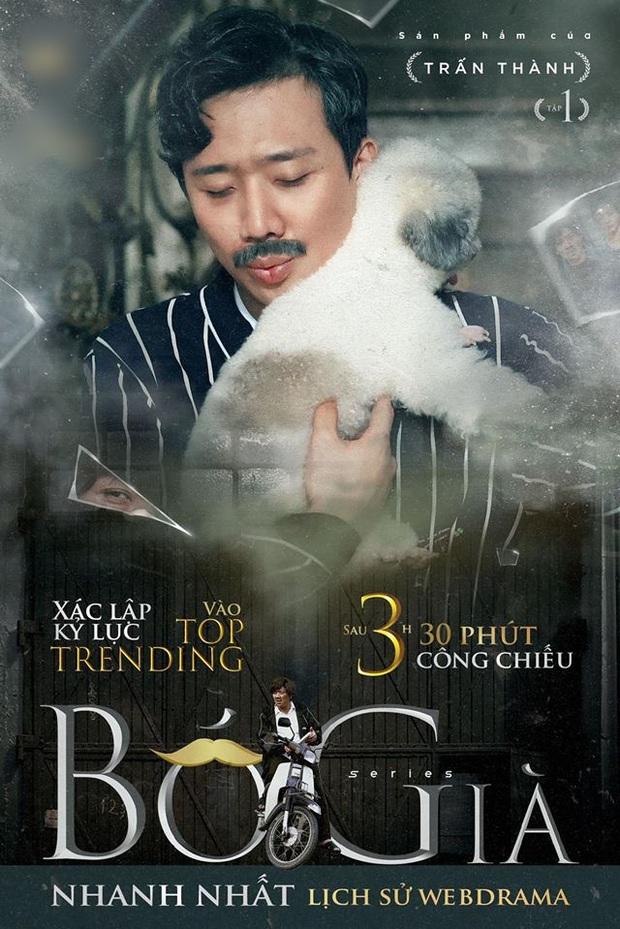 Web drama Bố Già của Trấn Thành không chỉ leo thẳng Top 3 Trending chưa đầy 1 ngày mà nhạc phim cũng được netizen truy lùng ráo riết - Ảnh 1.
