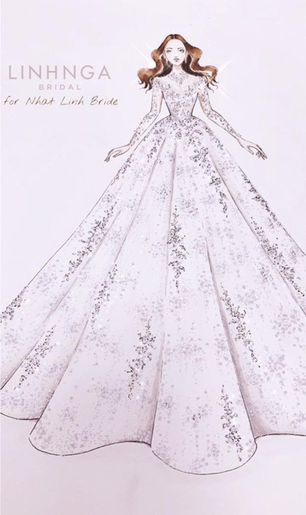 Váy cưới của cô dâu Nhật Linh: 3 bộ sương sương 1 tỷ VNĐ, riêng bộ váy chính bồng xòe đúng chuẩn váy công chúa - Ảnh 7.