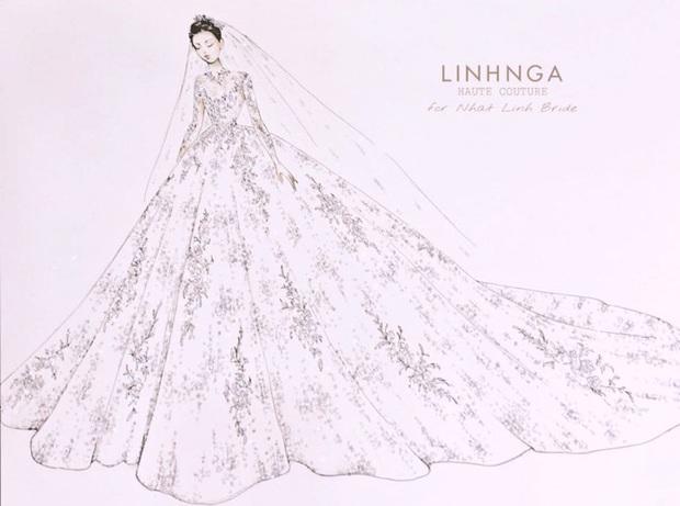 Váy cưới của cô dâu Nhật Linh: 3 bộ sương sương 1 tỷ VNĐ, riêng bộ váy chính bồng xòe đúng chuẩn váy công chúa - Ảnh 6.