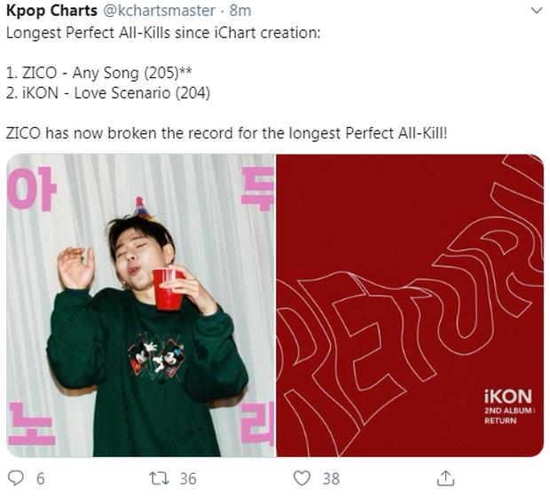 Sát ngày tái xuất, iKON mất luôn kỉ lục số giờ Perfect All-kill trên iChart của siêu hit 2018 vào tay nam ca sĩ bạn thân IU - Ảnh 1.