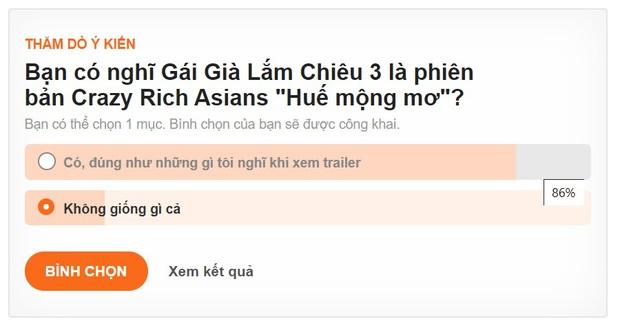 Gần 90% khán giả khẳng định Gái Già Lắm Chiêu 3 là chị em sinh đôi với Crazy Rich Asians? - Ảnh 3.