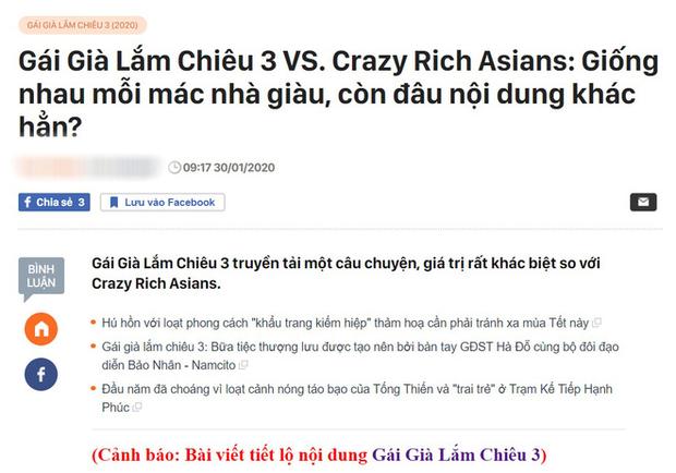 Gần 90% khán giả khẳng định Gái Già Lắm Chiêu 3 là chị em sinh đôi với Crazy Rich Asians? - Ảnh 2.