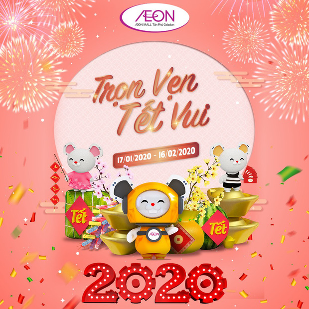 """Tạm biệt Tết """"nhạt"""" - Quẩy thật """"đậm đà"""" với chuỗi hoạt động xuyêt Tết tại AEON MALL Tân Phú Celadon - Ảnh 1."""