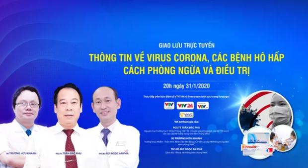 Giao lưu trực tuyến thông tin về virus Corona cùng các chuyên gia hàng đầu, livestream trên MXH Lotus - Ảnh 1.