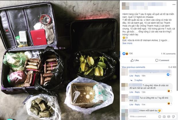 Hết Tết cô gái xách chiếc vali hơn 40kg mang cả quê hương lên phố: 100 trứng gà, 10kg khế ngọt, 2 cái bánh chưng, gà cá đủ cả - Ảnh 1.