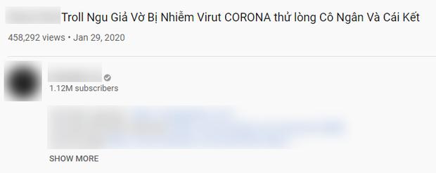 Giả vờ nhiễm virus corona để làm YouTube: Trào lưu phản cảm nhen nhóm bởi một số vlogger Việt - Ảnh 1.