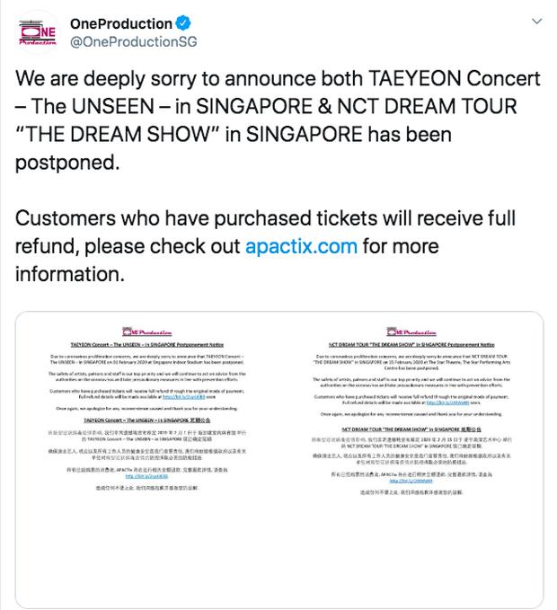 Lịch trình sao Kpop lao đao vì đại dịch Virus Corona: Taeyeon huỷ solo concert, Lisa hoãn lịch quay tại Trung Quốc, riêng Winner vẫn tổ chức concert tại Việt Nam - Ảnh 3.