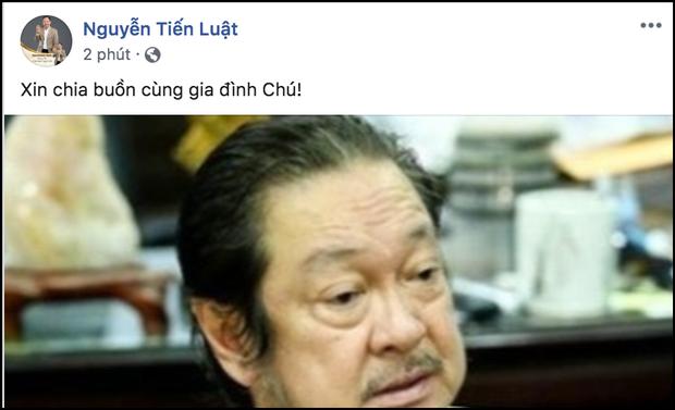Ngô Thanh Vân, Hứa Vĩ Văn cùng dàn nghệ sĩ bàng hoàng khi hay tin NSƯT Chánh Tín đột ngột qua đời ở tuổi 68 - Ảnh 3.