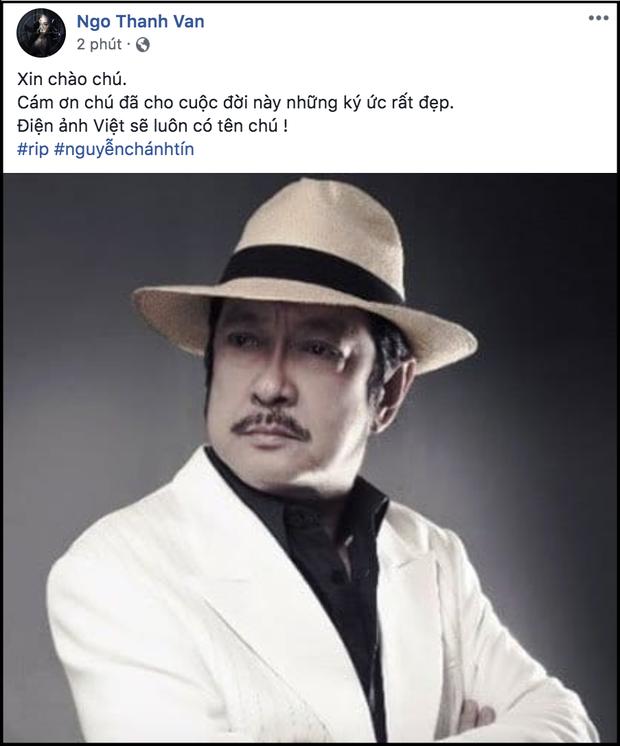 Ngô Thanh Vân, Hứa Vĩ Văn cùng dàn nghệ sĩ bàng hoàng khi hay tin NSƯT Chánh Tín đột ngột qua đời ở tuổi 68 - Ảnh 1.