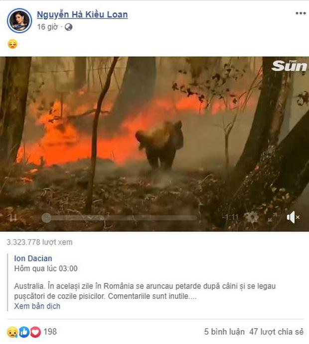 Loạt sao Vbiz lên tiếng về vụ đại thảm họa cháy rừng tại Úc: Trà My Idol, Diễm Trang đều xót thương, Tăng Thanh Hà kêu gọi sự thay đổi - Ảnh 4.