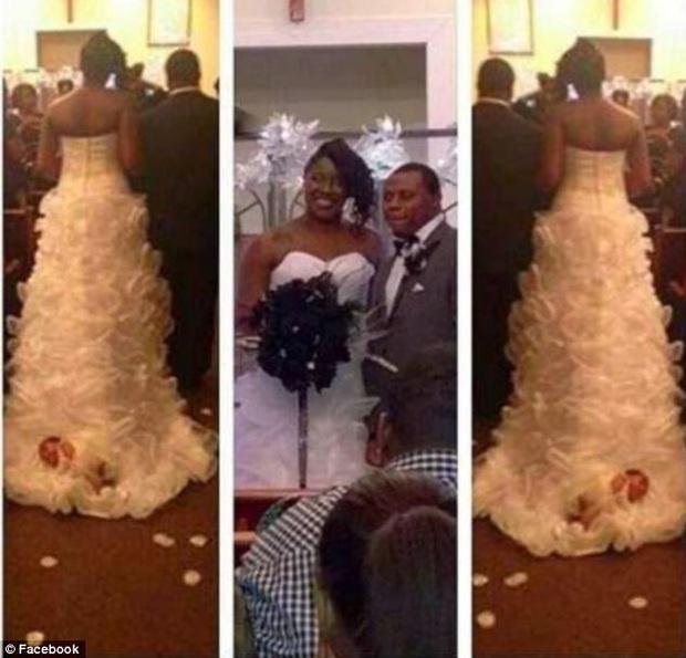 Buộc con mới sinh lên tà váy cưới rồi kéo vào lễ đường, cô dâu hứng rổ gạch đá từ cộng đồng mạng nhưng vẫn chống chế gây phẫn nộ hơn - Ảnh 4.