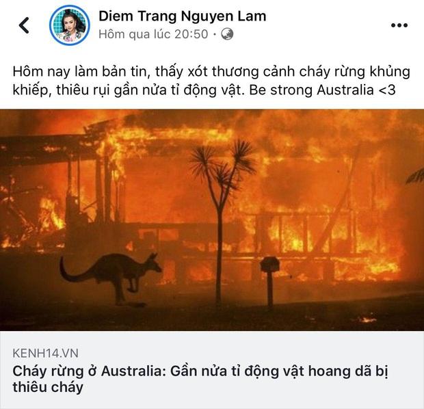 Loạt sao Vbiz lên tiếng về vụ đại thảm họa cháy rừng tại Úc: Trà My Idol, Diễm Trang đều xót thương, Tăng Thanh Hà kêu gọi sự thay đổi - Ảnh 1.