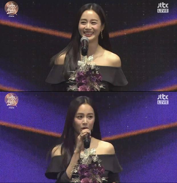 Kim Tae Hee bất ngờ thổ lộ với BTS và Super Junior ngay trên sóng trực tiếp Grammy Hàn - Ảnh 2.