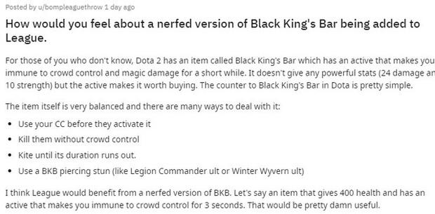 Sẽ loạn lạc thế nào nếu LMHT có một item giống với Black King Bar của DOTA 2?  - Ảnh 2.