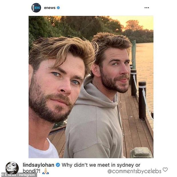 Cô nàng lắm chiêu Lindsay Lohan bất ngờ thả thính Liam Hemsworth, hóa ra là vì liên quan tới cặp Miley - Cody? - Ảnh 1.