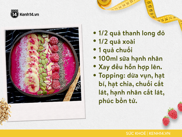 Gợi ý bữa sáng với smoothie bowl hấp dẫn từ cô gái Sài thành giúp da sáng, bụng nhỏ hơn - Ảnh 4.