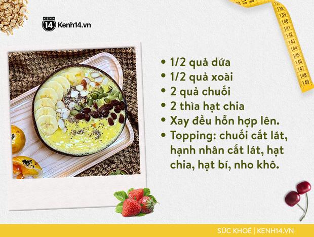 Gợi ý bữa sáng với smoothie bowl hấp dẫn từ cô gái Sài thành giúp da sáng, bụng nhỏ hơn - Ảnh 11.