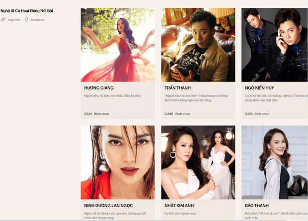 Cập nhật nhanh tình hình bình chọn nghệ sĩ hoạt động nổi bật WeChoice 2019: Hương Giang vững phong độ, Bảo Thanh, Nhật Kim Anh bứt phá - Ảnh 1.