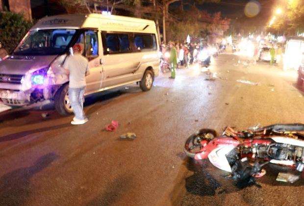 Tại nạn liên hoàn ở Đà Lạt, hai người ngã văng ra đường tử vong - Ảnh 1.