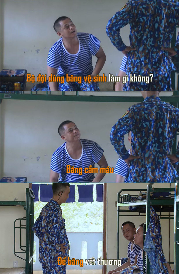 Sao nhập ngũ: Jun Phạm khiến khán giả chết cười vì khen băng vệ sinh thơm, siêu thấm siêu hút - Ảnh 6.