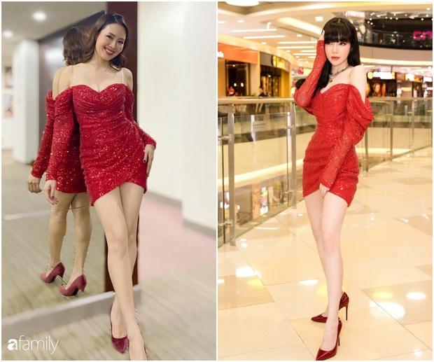 Khó nhận ra Hồng Diễm khi lên đồ sexy đi đu đưa, chẳng ngại đọ dáng nóng bỏng với eo 55cm của Elly Trần - Ảnh 6.